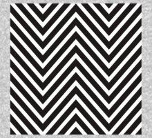 Black and White Chevron Pattern Kids Clothes