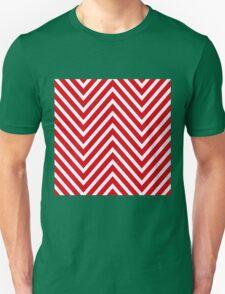 Red Chevron Pattern Unisex T-Shirt