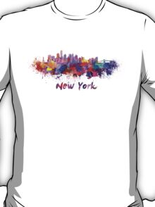 New York skyline in watercolor T-Shirt