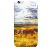 Resting cows iPhone Case/Skin