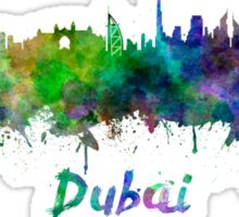 Dubai skyline in watercolor Sticker