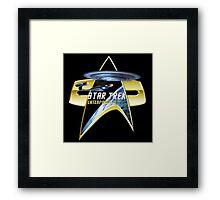StarTrek Enterprise D Com badge Framed Print