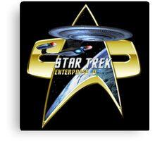 StarTrek Enterprise D Com badge Canvas Print