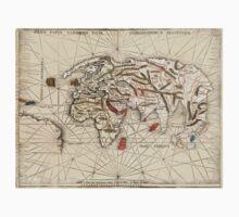 1513 World map by Martin Waldseemüller Kids Clothes