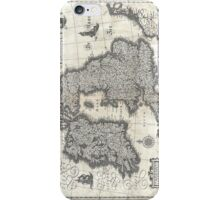 1631 Map of the British Isles by Joan Blaeu iPhone Case/Skin