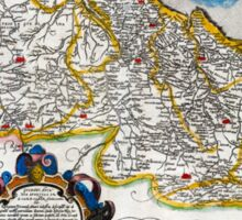 1560 Map of Portugal by Ortelius Sticker