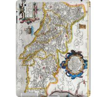 1560 Map of Portugal by Ortelius iPad Case/Skin