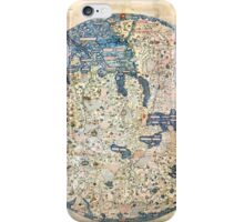 1458 World Map by Fra Mauro iPhone Case/Skin