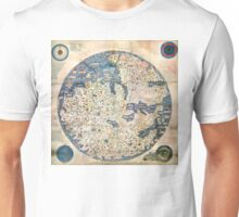 1458 World Map by Fra Mauro Unisex T-Shirt