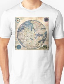1458 World Map by Fra Mauro T-Shirt