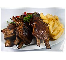 Char-Grilled Ribs-Lamb Poster