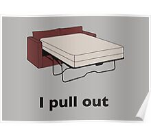 Sofa bed I pull out Poster