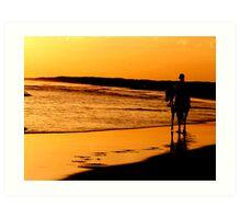 Sunset Stroll Art Print