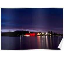 Satin waters - Velvet sky. Lake Burley Griffin Canberra, ACT  Poster