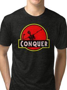 Conquer Arnold Jurassic Predator Gym Tri-blend T-Shirt