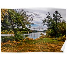 The Yellowstone River at Forsyth, Montana Poster