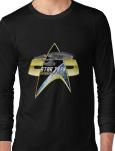 StarTrek Enterprise 1701 Com badge Long Sleeve T-Shirt