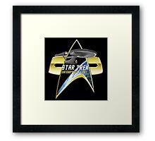 StarTrek Enterprise 1701 Com badge Framed Print