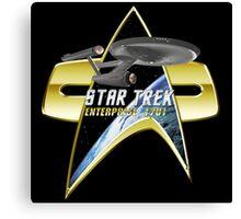 StarTrek Enterprise 1701 Com badge Canvas Print