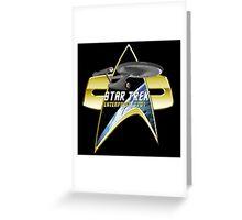 StarTrek Enterprise 1701 Com badge Greeting Card