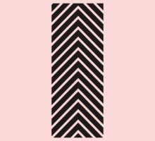 Black Pink Chevron Kids Tee
