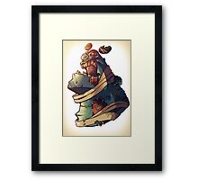 Frankie the gentle giant -Zombie Punk Collection Framed Print