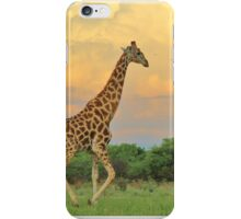 Giraffe - African Wildlife - The Rain is Coming iPhone Case/Skin