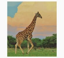 Giraffe - African Wildlife - The Rain is Coming One Piece - Long Sleeve