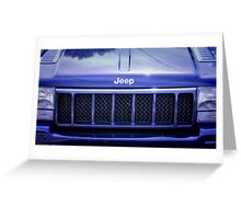 Jeep Cherokee 5.9 V8 American idol. Greeting Card