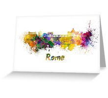 Rome skyline in watercolor Greeting Card