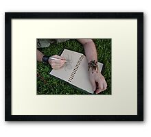 Small, cute and furry Framed Print