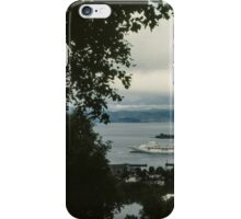 Cruise liner in port Trondheim Norway 198406220004 iPhone Case/Skin