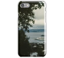 Cruise liner in port Trondheim Norway 19840622 0004 iPhone Case/Skin