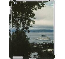 Cruise liner in port Trondheim Norway 198406220004 iPad Case/Skin