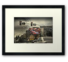 City Life - Crossroads Mystic Framed Print