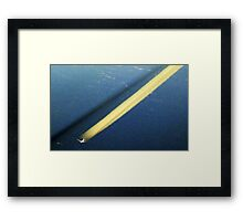 Yellow contrail Framed Print