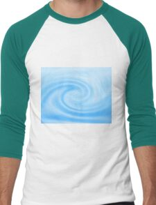 Blue Wave - Color Background of Fresh Beauty Men's Baseball ¾ T-Shirt