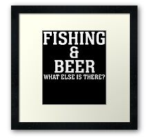 fishing beer Framed Print