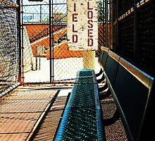 Field Closed - empty duguout by Joe Randeen