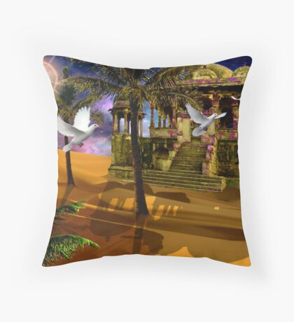 An Arabian sight - Shadows in the Sand. Throw Pillow