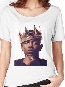 "Kendrick Lamar - ""The king"" Women's Relaxed Fit T-Shirt"