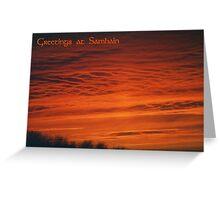 Samhain Greetings Card Greeting Card