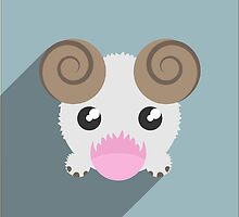 League Of Legends Poro Flat Design  by uber0ct0pus