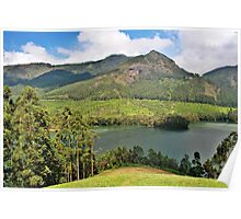 The beautiful landscapes of Munnar. Poster