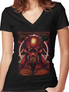 DOOM BARON OF HELL V1 Women's Fitted V-Neck T-Shirt
