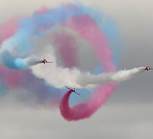 Spiralling Red Arrows by Shane Ransom