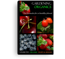 Book Cover: Organic Gardening Canvas Print