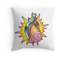 Ham Grenade Throw Pillow
