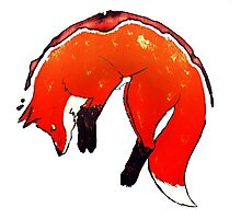Coffee Stained Fox Photographic Print