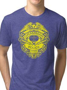 Grammar Police Funny T-Shirt & Hoodies Tri-blend T-Shirt